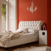 Creamsicle bedroom from digsdigs.com