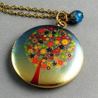 FLOLOCKET NECKLACE BY MANOCELEBRATES ON ETSY by ManoCelebrates