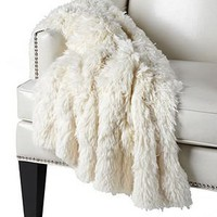 Ludlow Throw - Winter White | Throws | Bedding-and-pillows | Z Gallerie