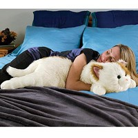 Super-Soft Cuddly Cat Body Pillow, in Brown