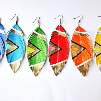Aztec Summer Brights  YOU Pick Color  Handpainted by lovesexton