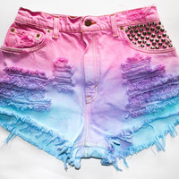 Ombre Shorts by BeautifulCocaine on Etsy