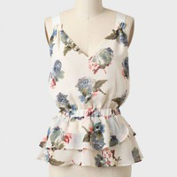 dance with me ruffled blouse in ivory at ShopRuche.com
