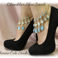 Chandelier Shoe Jewelry Amazing new look to make any pair of Heels extra special for weddings,bridal, prom, parties, special occasions  SJ4