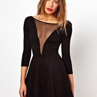 American Apparel Gloria V Skater Dress With Scoop Back at asos.com