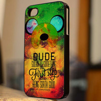 Adventure Time Finn Quote Galaxy - B154 - For iPhone 5 Case, iPhone 4/4s Case