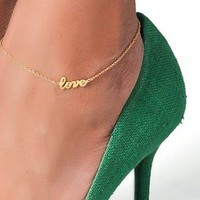 Jennifer Zeuner Jewelry Love Anklet | SHOPBOP
