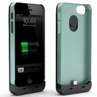 Amazon.com: Maxboost Fusion Detachable External iPhone 5 Battery Case - Black/Mint, Fits All Versions of iPhone 5 - Lightning Connector Integrated: Sports & Outdoors