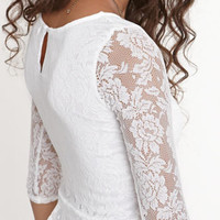 Kirra 3/4 Sleece Lace Peplum Top at PacSun.com