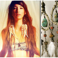 cheyenne.....chandelier feather earrings