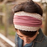 Trellis Roses Headwrap  - Garlands of Grace headband 2012