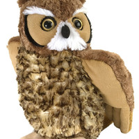 "stuffed animal plush 12"" GREAT HORNED OWL cuddlekins CK"