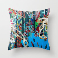 candy Throw Pillow by Randi Antonsen