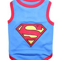Amazon.com: Pet Clothes SUPERMAN Dog T-Shirt - Medium: Pet Supplies