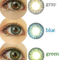 GEO Tri Color World Series Colored Contacts Circle Lenses Cosmetic Fashion Contact Lens | EyeCandy&#x27;s