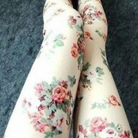 Cute Rose Pattern Leggings