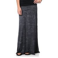 Billabong Dreamscaper Black Tribal Print Maxi Skirt