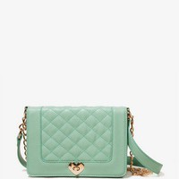 Heart Lock Shoulder Bag | FOREVER 21 - 1017307028
