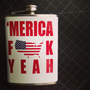 American &#x27;Merica Fuck Yeah USA Stainless Steel Hip Flask America