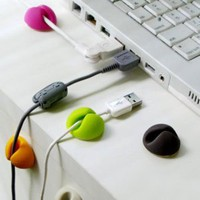 Multi-purpose Cable Clips, Multiple Color Options, Great Value, 6pcs/package: Cell Phones &amp; Accessories