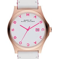 Marc by Marc Jacobs Watch, Women's White Leather Strap 43mm MBM1248 - Marc by Marc Jacobs - Jewelry & Watches - Macy's