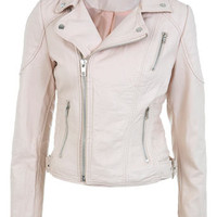 Light Pink Stitch Detail Biker