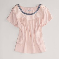 AE Embroidered Voile Top | American Eagle Outfitters