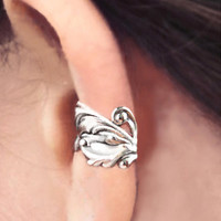 925 Baroque  Sterling Silver ear cuff earring non by RingRingRing