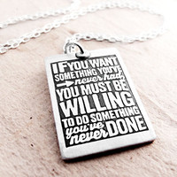 Graduation jewerly  Inspirational quote necklace by lulubugjewelry