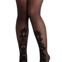 Believe It Ornate Tights | Mod Retro Vintage Tights | ModCloth.com