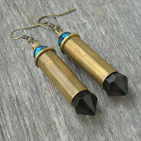 Bullet Earrings, Bullet Casing Earrings, Shotgun Shell Earrings, Crystal Bullet Earrings, Bullet Crystal Earrings,