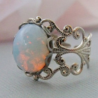 Silver Opal Rings