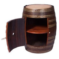 RECYCLED WINE BARREL SIDE CABINET | Recycled Wine Barrel Side Cabinet is Handmade from Reclaimed Oak for Rustic, Practical Home Decor | UncommonGoods
