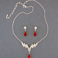 Indulge Crystal Necklace and Earring Set