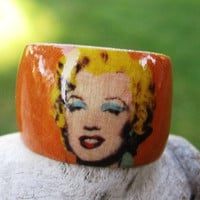 Shocking Orange Marilyn Monroe Warhol  adjustable by HutchMade