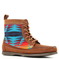 *Sole Boutique The Samosa Boot in Brown Leather and Turquoise Pendleton Fabric : Karmaloop.com - Global Concrete Culture