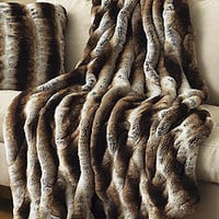 Tan Chinchilla Faux Fur Couture Throws | Fabulous Furs