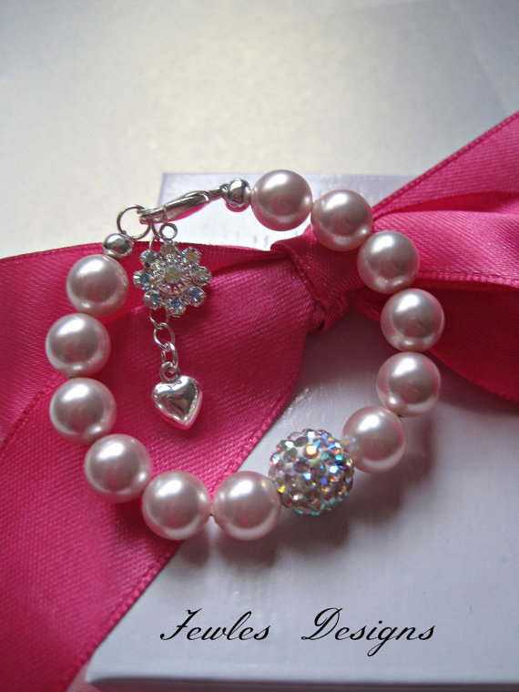 Baby Gifts Jewellers : Infant jewelry swarovski baby bracelet from jewlesdesigns on
