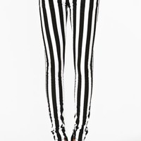 Striped Skinny Jeans