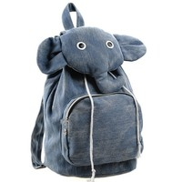 Cute Elephant Canvas Backpack  — Faboutique