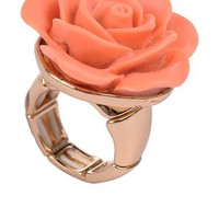 Flower Resin Stretch Ring