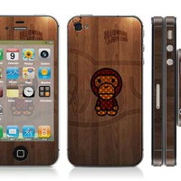 Free shipping vinyl decal stickers for iPhone 4 / iPhone 4S cover #0605