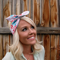 Vintage Inspired Pin Up Dolly Bow Reversible Headband With Easy Twist