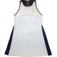 NWT Ralph Lauren Tennis Women&#x27;s Big Pony Tank Dress M