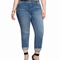 Cuff Slim Boyfriend Jean | Plus Size Crops & Ankles | eloquii by THE LIMITED