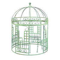 Mini Fantasy Iron Gazebo with Benches - Outdoor Entertaining - Enjoying the Outdoors - Outdoor and Garden - PoshLiving