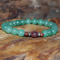 Green Aventurine Meditation Bracelet      Beaded  Stretch