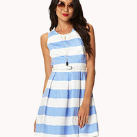 Essential Striped Dress w/ Belt | FOREVER 21 - 2027067639