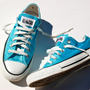 Rhinestone Studded Mermaid Blue Converse - Rare - Tiffany Blue
