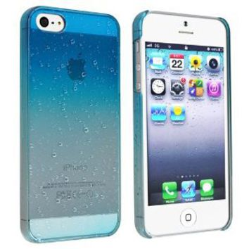 eForCity Clear Sky Blue Waterdrop Raindrop Hard Case Compatible with Apple® iPhone® 5: Cell Phones & Accessories